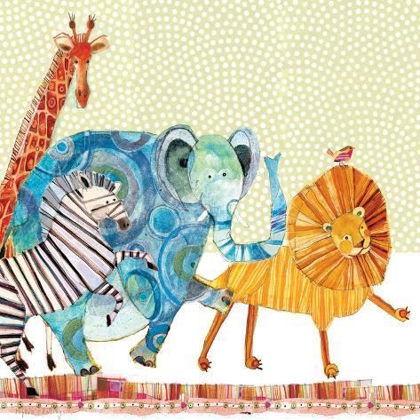 Safari Parade Kunstdruck