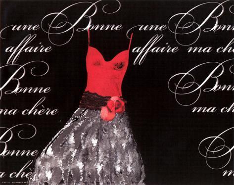 Robe de Soiree Rouge Kunstdruck