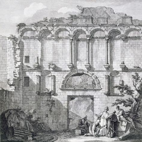 The Porta Aurea, from 'Ruins of the Palace of Emperor Diocletian at Spalatro in Dalmatia' Giclée-Druck