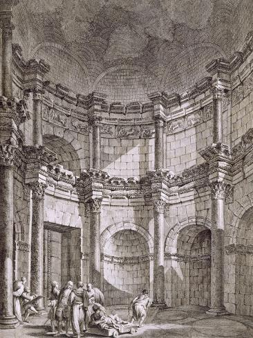 The Temple of Jupiter, from 'Ruins of the Palace of Emperor Diocletian at Spalatro in Dalmatia' Giclée-Druck