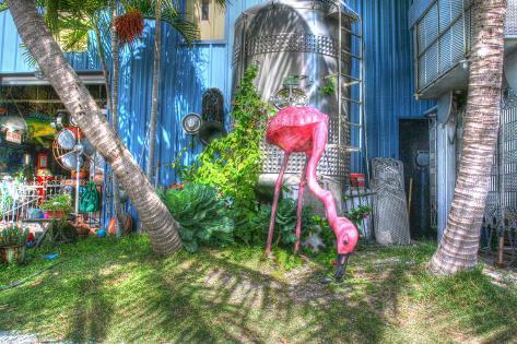 Rosa Flamingo Fotografie-Druck