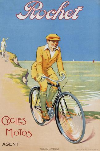 Rochet Cycles Motos Poster Giclée-Druck