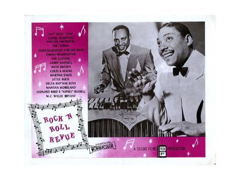 Rock 'N' Roll Revue, from Left: Lionel Hampton, Joe Turner, 1955 Giclée-Druck
