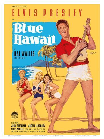 Elvis Presley in Blue Hawaii Kunstdruk