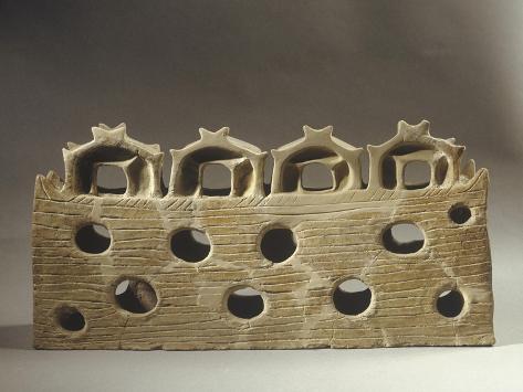 Romania, Prehistoric Shrine Model Giclée-Druck