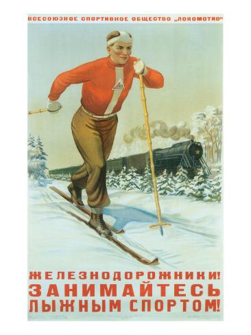 Russian Cross Country Skier Kunstdruck