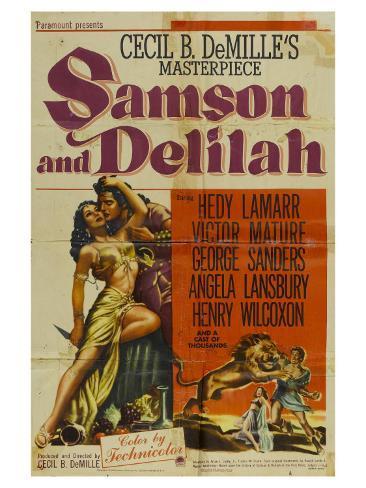Samson & Delilah, 1949 Kunstdruck