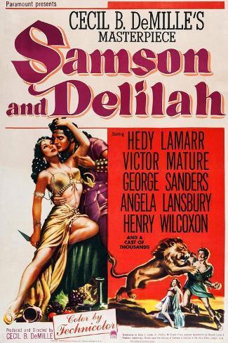 Samson und Delilah Kunstdruck