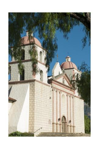 Santa Barbara Mission Giclée-Druck