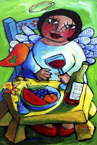 An Angel Came to Lunch Giclée-Druck