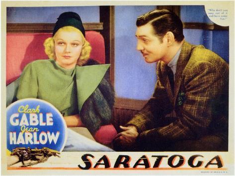 Saratoga, 1937 Kunstdruck