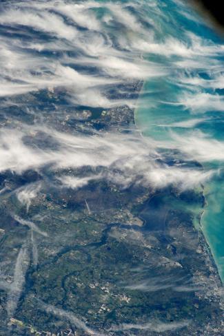 Satellite view of Ponte Vedra Beach, Florida, USA Fotografie-Druck