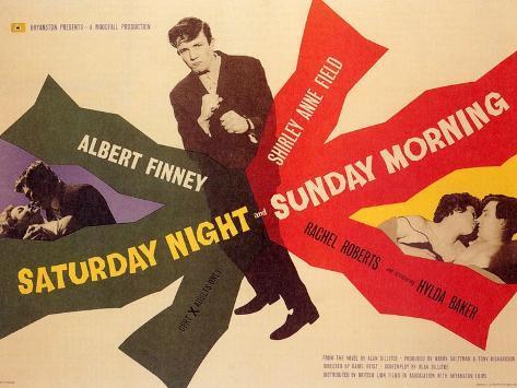 Saturday Night and Sunday Morning, 1961 Kunstdruk