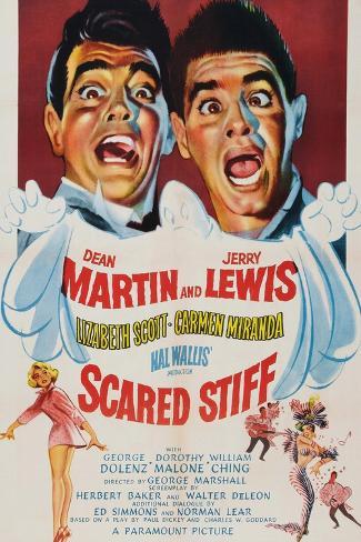 Scared Stiff, Dean Martin, Jerry Lewis, 1953 Kunstdruck