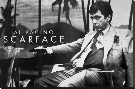 Scarface Al Pacino Sling Bedruckte aufgespannte Leinwand