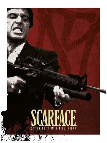 Scarface - Blood Red Poster Neuheit