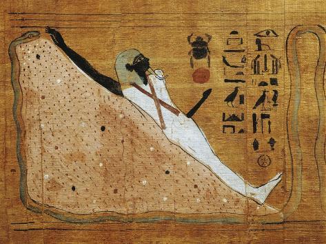 Scene from Book of Dead, Heruben Papyrus Giclée-Druck