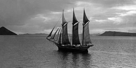 Japanese Sail Boat, 1942 Fotografie-Druck