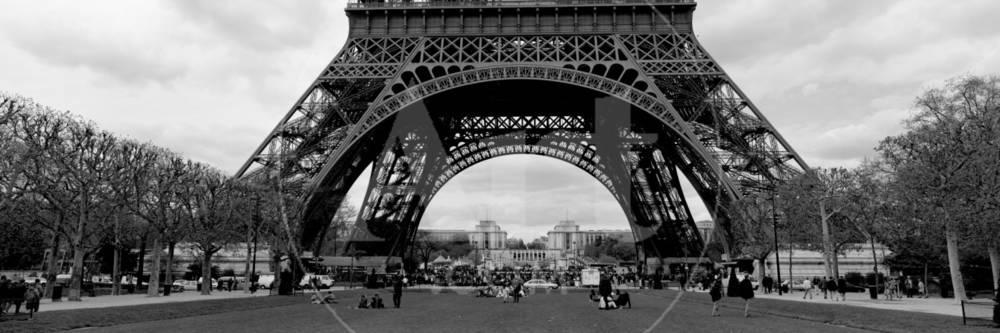 schwarz/weiß, Eiffelturm, Paris, Frankreich Fotografie-Druck bei ...