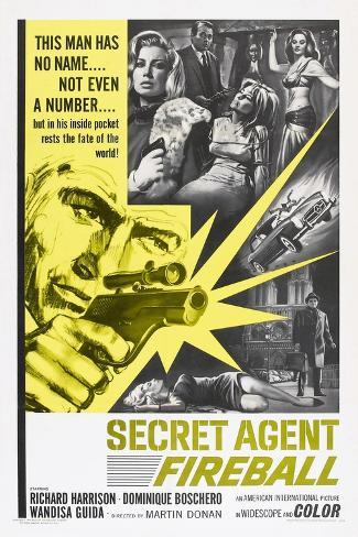 Secret Agent Fireball, 1965 Kunstdruck