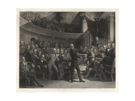 Senator Henry Clay Speaking before the United States Senate Giclée-Druck