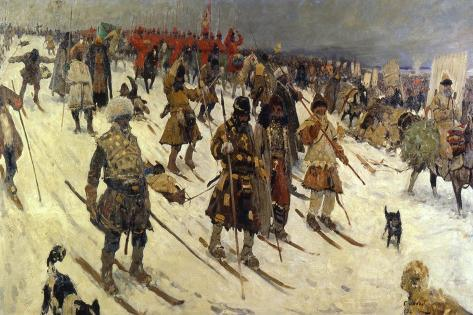 Military Campaign of the Russians in the 16th Century, 1903 Giclée-Druck
