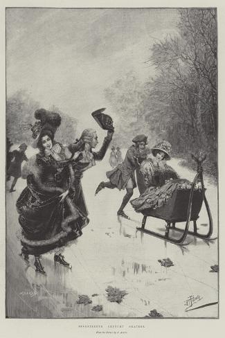 Seventeenth Century Skaters Giclée-Druck