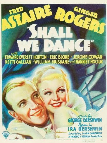 Shall We Dance?, Fred Astaire, Ginger Rogers, 1937 Kunstdruck