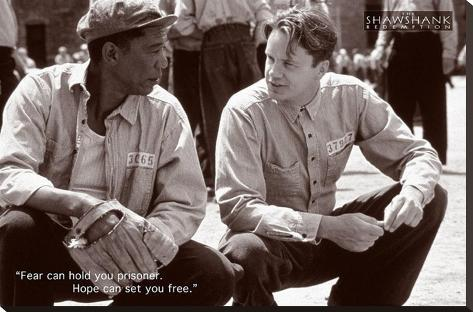 Shawshank Redemption Hope Movie Poster Bedruckte aufgespannte Leinwand