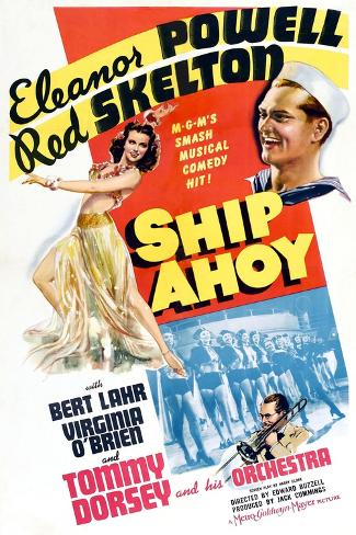 Ship Ahoy, Eleanor Powell, Red Skelton, Tommy Dorsey, 1942 Giclée-Premiumdruck