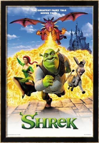 Shrek Gerahmtes Poster