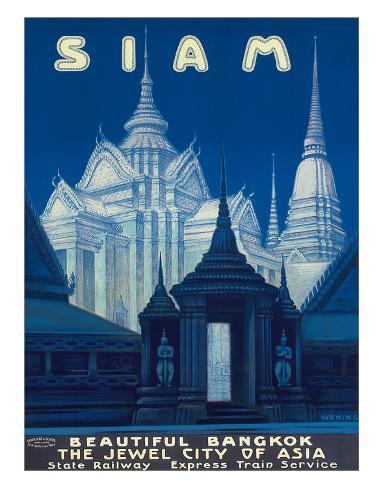 Siam c.1920s Giclée-Druck