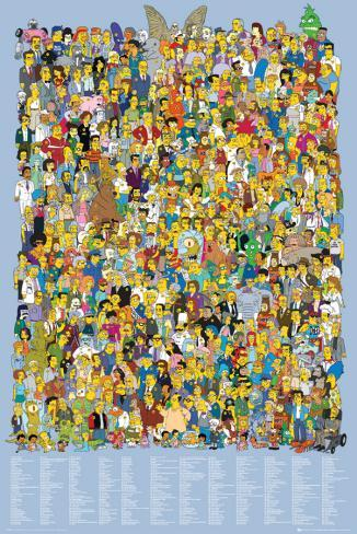 Simpsons-Cast Names Poster