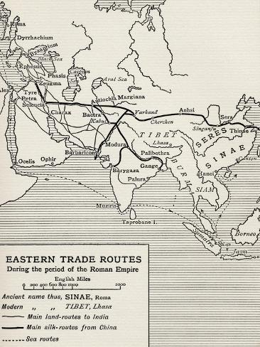 Eastern Trade Routes During the Period of the Roman Empire, from 'The Quest for Cathay' Giclée-Druck