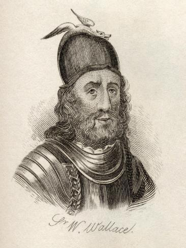 Sir William Wallace, from 'Crabb's Historical Dictionary', Published 1825 Giclée-Druck