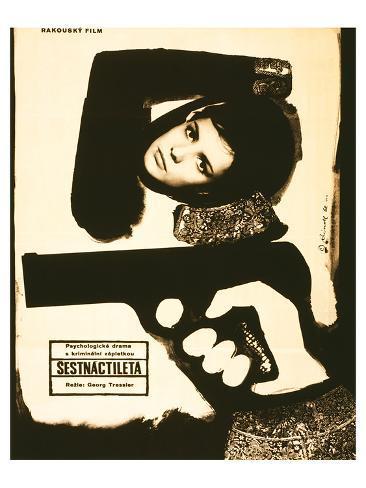 Sixteen-Year Old-Sestnactileta Kunstdruck