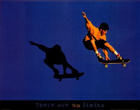 Skateboarder ohne Grenzen Kunstdruck