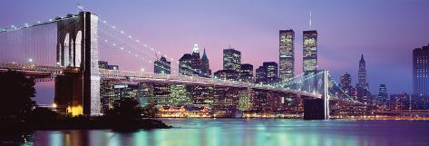 Skyline von New York Türposter