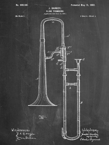 Trombone Patent Print