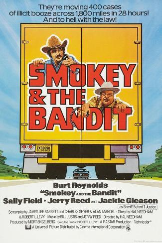 Smokey and the Bandit, Burt Reynolds (top), Jackie Gleason, 1977 Kunstdruck