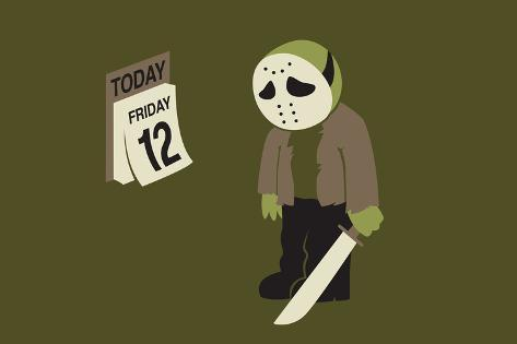 Friday the 12th Snorg Tees Poster Poster