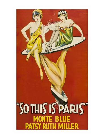 So This Is Paris Kunstdruck