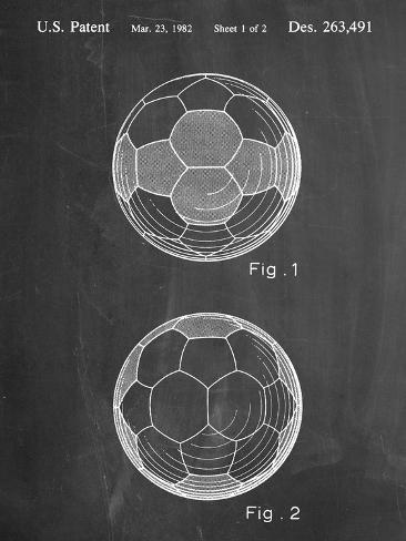 Soccer Ball Patent Kunstdruck