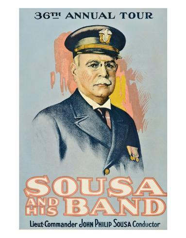 Sousa And His Band - 1901 Giclée-Druck