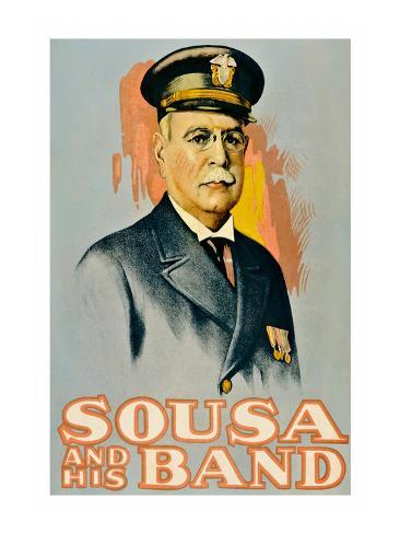 Sousa and His Band Kunstdruck