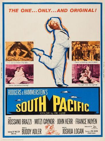 South Pacific, Mitzi Gaynor, 1958 Kunstdruck