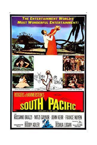 South Pacific, Rossano Brazzi, Mitzi Gaynor, 1958 Giclée-Druck