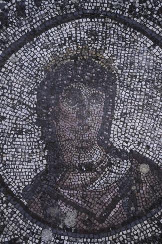 Spain, Andalusia, Carmona, Roman Mosaic in House of Planetarium, Detail Giclée-Druck