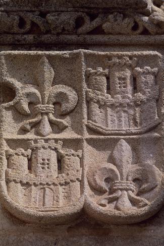Spain, Extremadura, Caceres, Palace of Los Golfines De Abajos Giclée-Druck