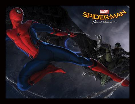Spider-Man Homecoming - Kampf (Rückkehr von Spider-Man) Sammlerdruck